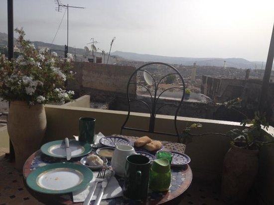 Dar el Ma: breakfast view