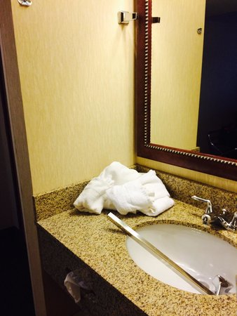 Comfort Inn Near Vail Beaver Creek: Broken towel rack