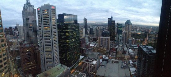 Sofitel Melbourne on Collins: View from corner room on 38th floor.