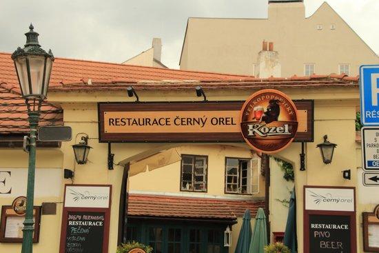 Restaurace Cerny Orel: Чёрный орёл и Велкопоповицкий козел