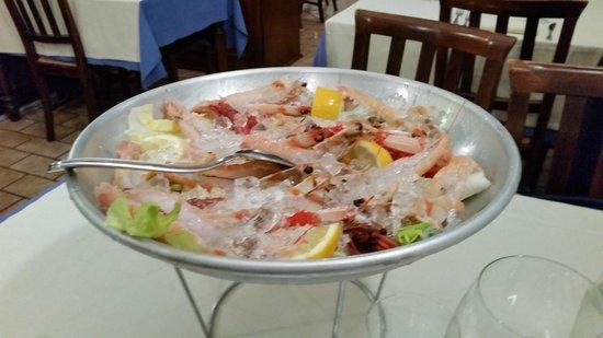 La Taverna di Via San Martino: Cruditè di scampi