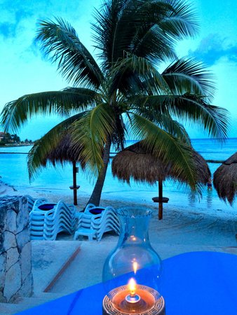 Omni Puerto Aventuras Hotel Beach Resort: Romantic Table for Two on the Sand!