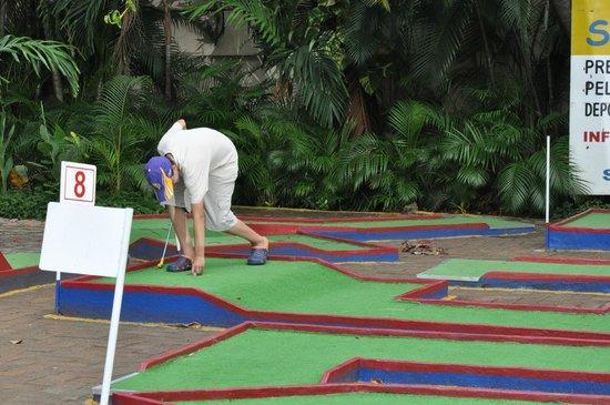 Sands Acapulco Hotel & Bungalows: Jugando golfito