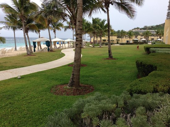 The Westin Dawn Beach Resort & Spa, St. Maarten : View of beach from our room
