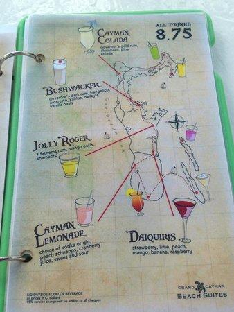 Grand Cayman Beach Suites: Seven Mile Beach Bar - Drink Menu (Page 2)