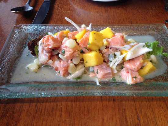 Greens Organic: Trout and mango ceviche