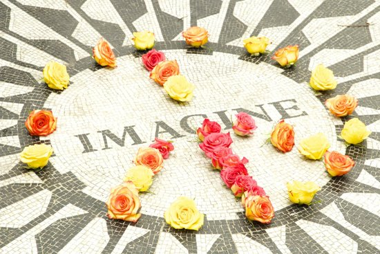 Strawberry Fields, John Lennon Memorial: Imagine, mosaico