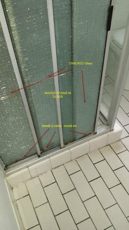 Alexandra Park Motor Inn: Sliding glass door cracked and dirty