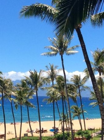 Kaanapali Alii: view from our 4th floor unit