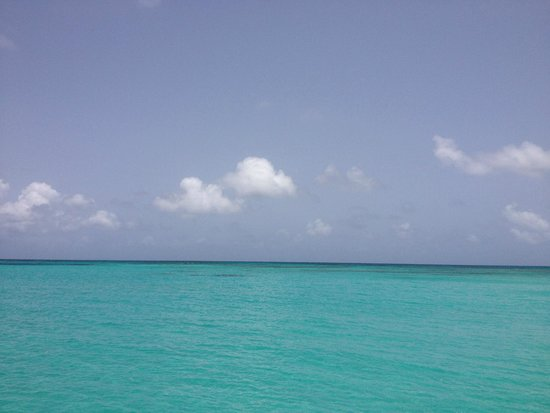 Northside Valley: View of the water on a sailing trip to Buck Island (off the northeast coast of St. Croix).