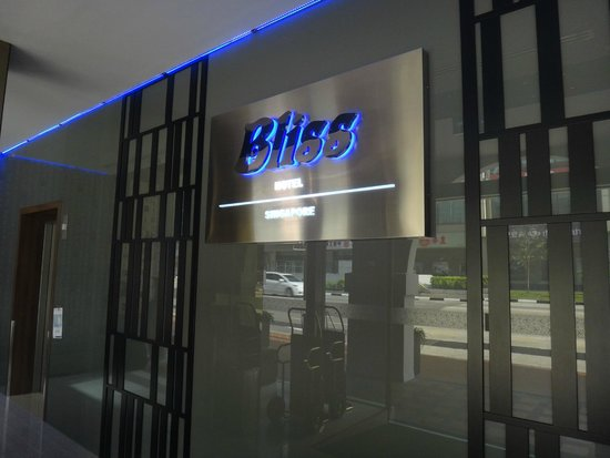 Bliss Hotel Singapore: Reception