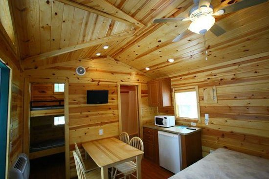 Copake KOA: Inside of our Deluxe Cabin