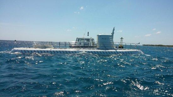 De Palm Tours: Atlantis Submarines Expedition: Atlantis 6 preparing to dive