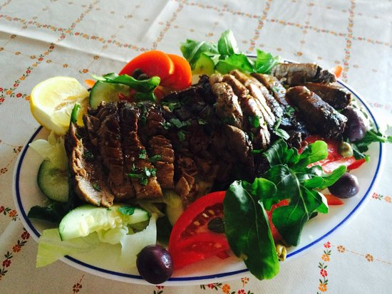Chaplins: Our Fresh Tuna Steak served on a bed of salad