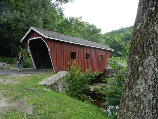 Kent Falls State Park: covered bridge