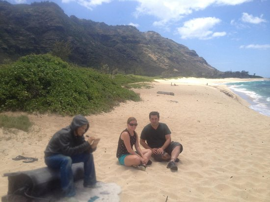 KOS Tours: Sitting on the beach where the plane crashed with Charlie