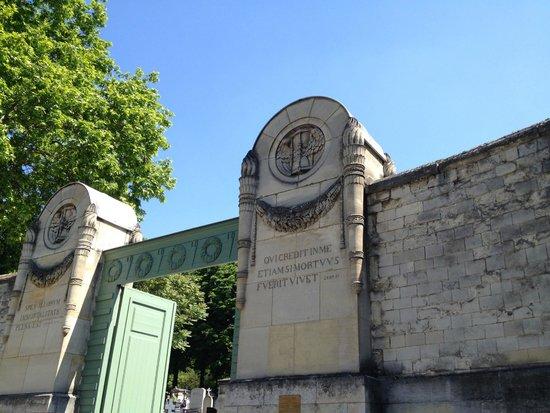 Cimetière du Père-Lachaise : Fachada do cemitério