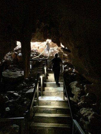 Cutta Cutta Caves Nature Park: Steps out of caves