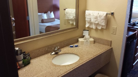 BEST WESTERN Windsor Pointe Hotel & Suites-AT&T Center: sink area