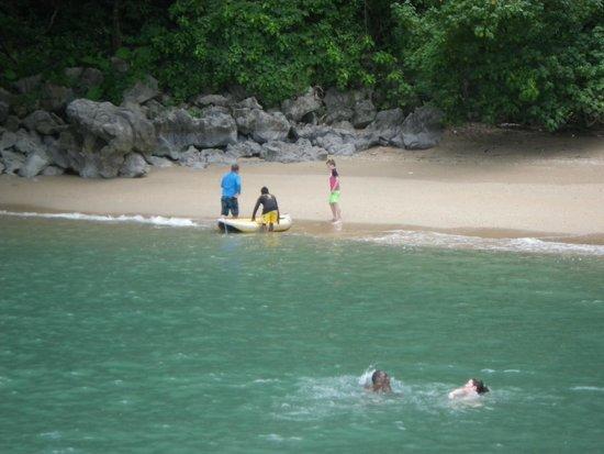 Two Sea Tour : Beach we swam at