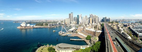 Pylon Lookout at Sydney Harbour Bridge : Panorama view from Pylon Lookout