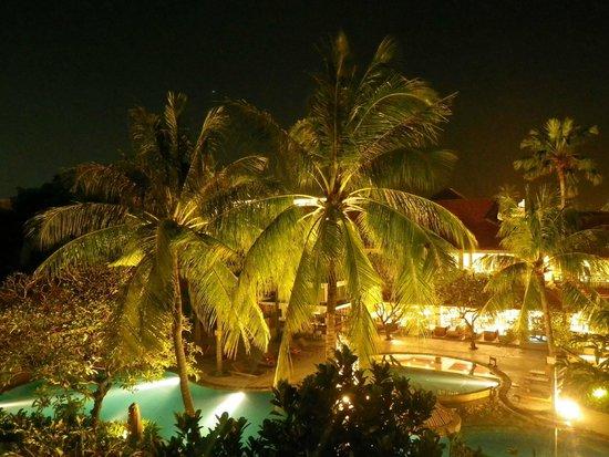 Bali Rani Hotel: Night view from room