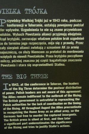 Warsaw Uprising Museum: The BIG THREE & Warsaw uprising