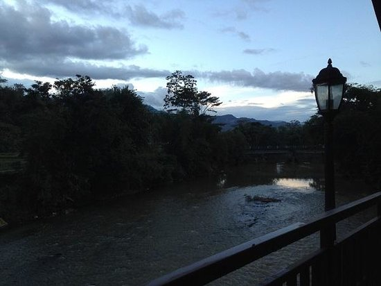 Luta Resort Toraja: the river at the back side of the dining area