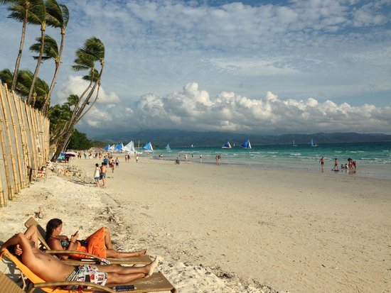 Boracay Beach Club : View from the dining area