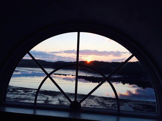 Machiasport, Maine: View from 3rd floor palladium window at Captain Cates'.