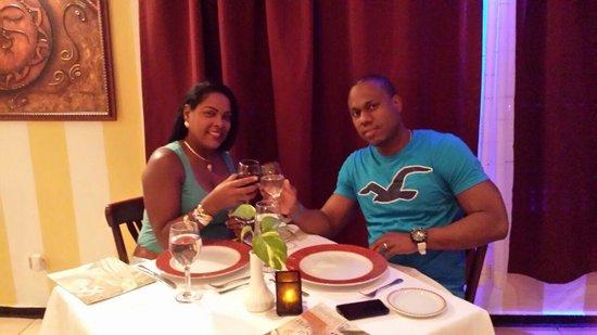 BelleVue Dominican Bay: cenando en el italiano