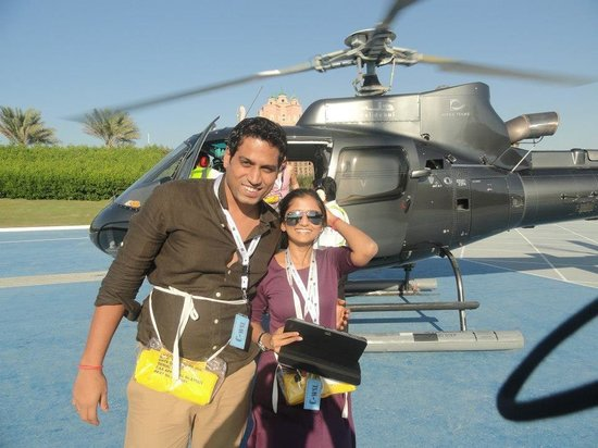 Atlantis, The Palm: Helicopter ride of the hotel
