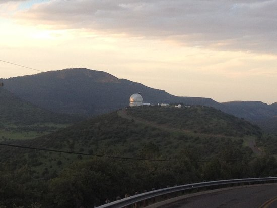 Sunset over the HET telescope at McDonald Observatory