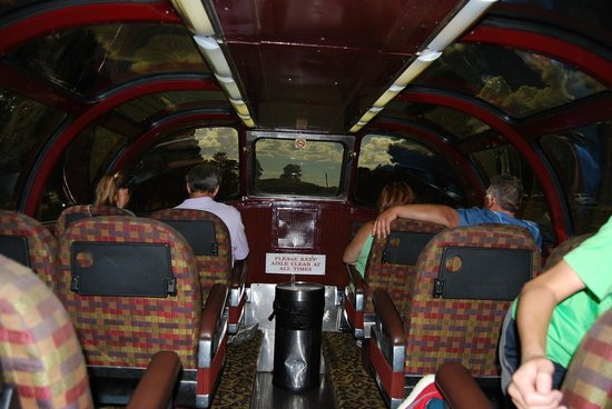 Grand Canyon Railway: inside the dome car