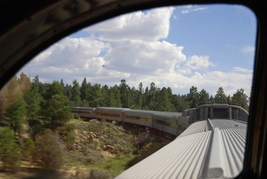 Grand Canyon Railway: from inside the dome car