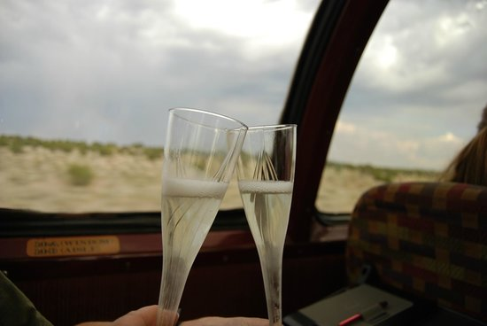 Grand Canyon Railway: champagne