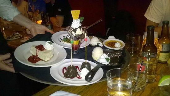 Smuggler's Inn: The dessert tray (it's fake)