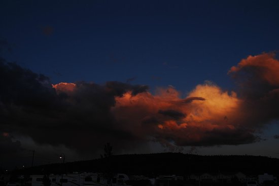 Grand Canyon Railway RV Park : fiery sunsets