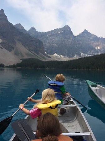 Moraine Lake: Our crews were little kids.
