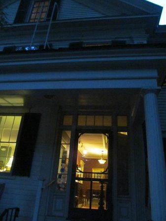 The Brunswick Inn: The warm glow from the Inn.