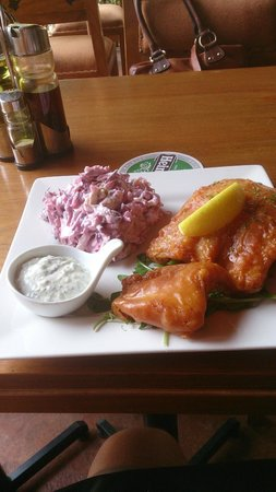 Uncle Albert's Traditional Fish and Chips : Traditional Battered Cod and Coleslaw