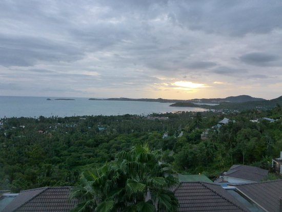 Mantra Samui Resort: Looking out over Bophut/Fisherman's Village