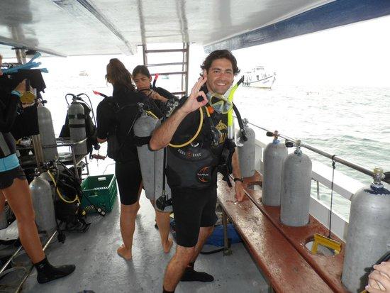 Big Blue Diving: Preparando todo