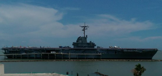 USS Lexington from the Aquarium