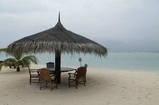 Palm Beach Resort & Spa Maldives: пляж на косе