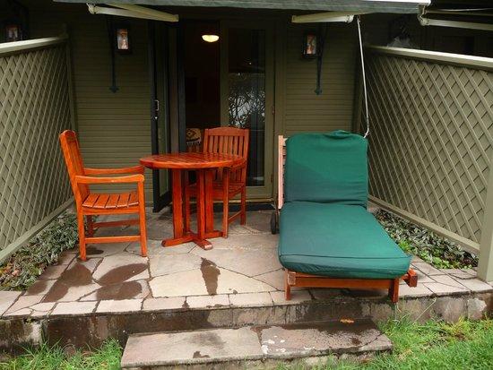 Belmond Sanctuary Lodge: Terrace patio