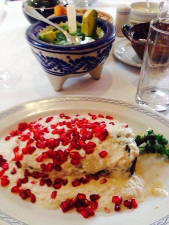 Restaurante El Cardenal : Chiles en nogada 2014