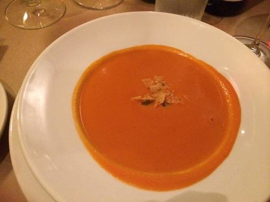 Brix Restaurant and Wine Bar: Spicy Tomato-Soup