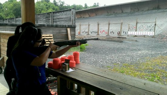Sunset Hill Shooting Range: Trap shooting with the shotgun is the best!