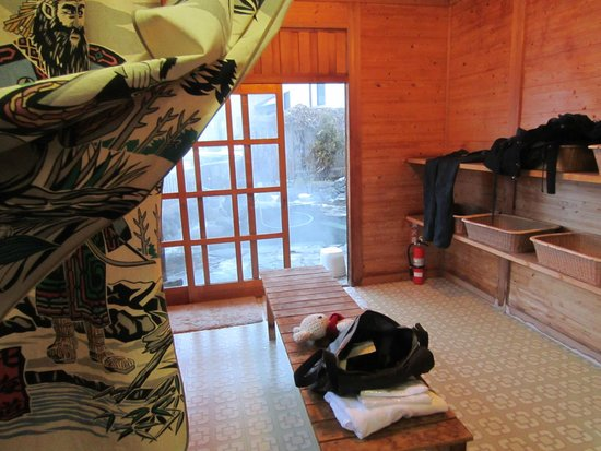 Shimaya Ryokan: Private Onsen change room